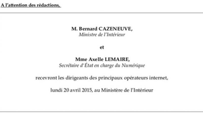 Loi sur le renseignement : les opérateurs Internet sont invités au Ministère de l'intérieur