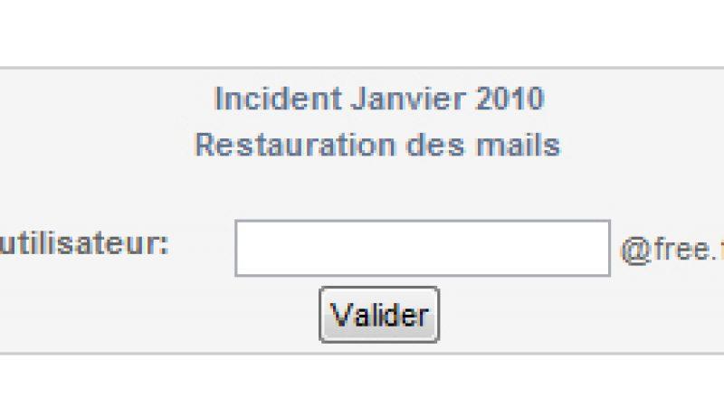 Panne mails Free du 7 janvier : Vous pouvez désormais restaurer vos mails