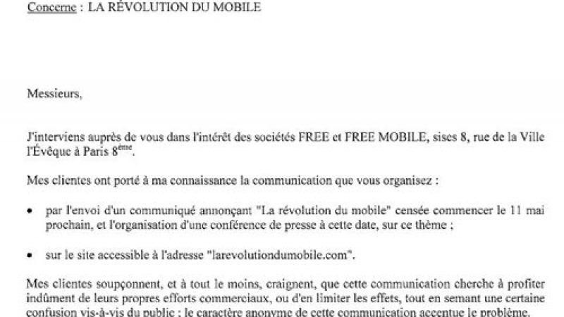 """[MàJ] Free met en garde """"La Révolution du Mobile"""", qui annonce le mobile illimité à -50€/mois"""