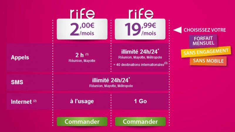 Forfaits Rife à 2€ et 19,99€ : l'Outre Mer a aussi droit à son Free Mobile