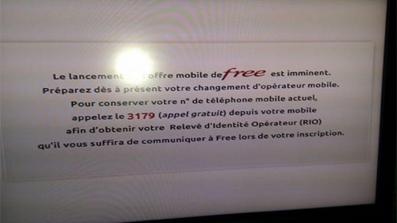 Free vous propose de vous préparer à l'arrivée de Free Mobile, sur l'écran de votre téléviseur