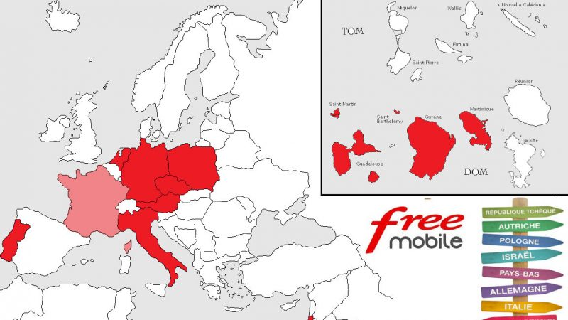 Roaming inclus chez Free Mobile : la carte des 11 destinations et le rappel des conditions