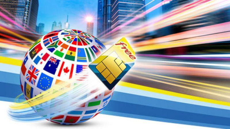 Découvrez la carte, mise à jour, des pays inclus en roaming dans le forfait mobile Free
