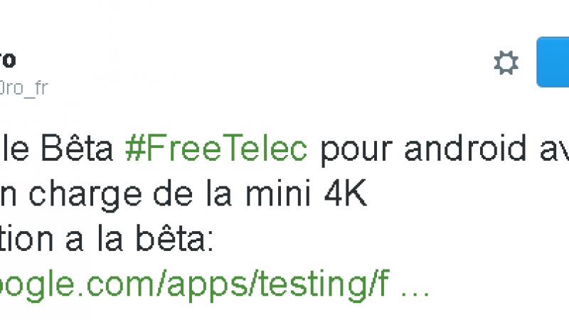 Des améliorations à l'approche pour FreeTéléc avec la comptabilité Freebox Mini 4K. Participez à la bêta !