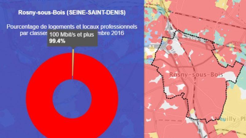 Découvrez les cartes du déploiement très haut débit de Rosny-sous-Bois
