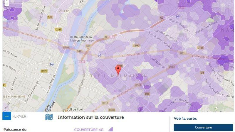 Couverture et débit 4G Free Mobile : Focus sur Rueil Malmaison