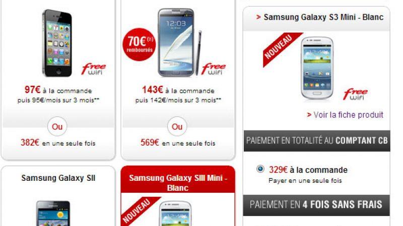 Nouveau smartphone dans la boutique Free Mobile : le Galaxy S3 mini