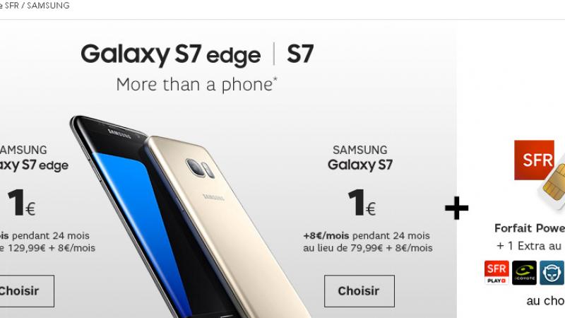 SFR lance une nouvelle vente privée, avec un Galaxy S7 pas cher et un forfait cher
