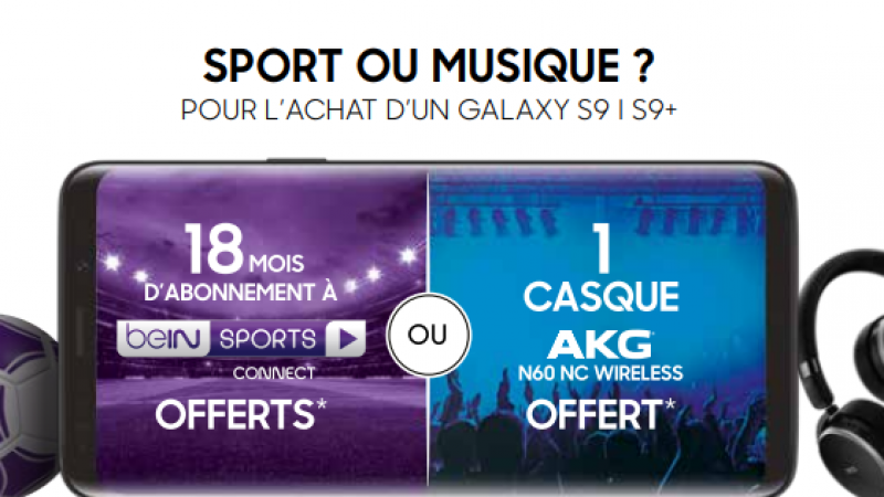 Free Mobile : l'abonnement à beIN Sport offert pour l'achat d'un Galaxy S9 ou S9+