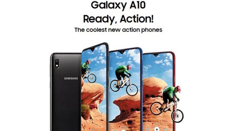 Galaxy A10 : Samsung dévoile un smartphone Android Pie à tout petit prix
