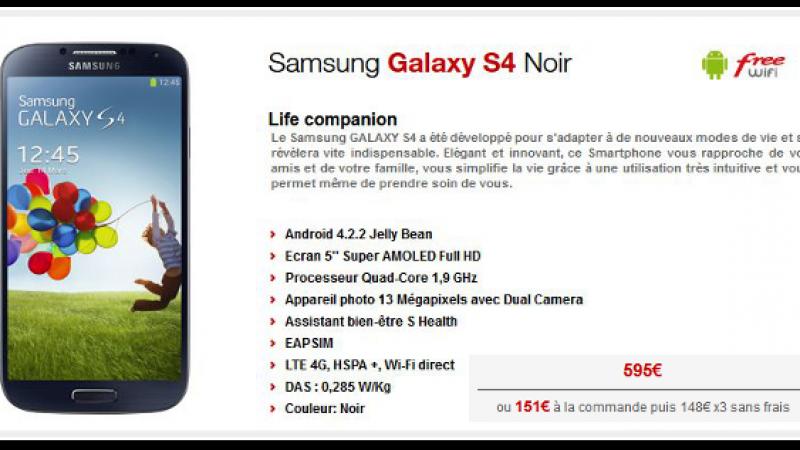 Free Mobile baisse le prix du Samsung Galaxy S4