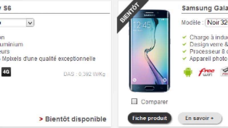 Les Samsung Galaxy S6 et S6 Edge « bientôt » disponibles chez Free Mobile