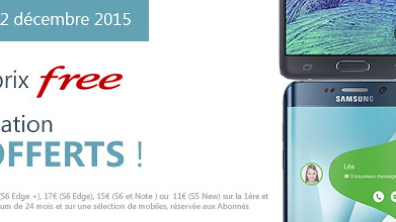 Free Mobile offre 2 mois de location sur tous les smartphones Samsung