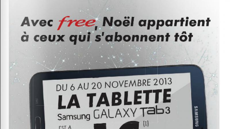 Une tablette à 1 € pour tout abonnement Canal+/Canal Sat sur la Freebox entre le 06 et 20 novembre