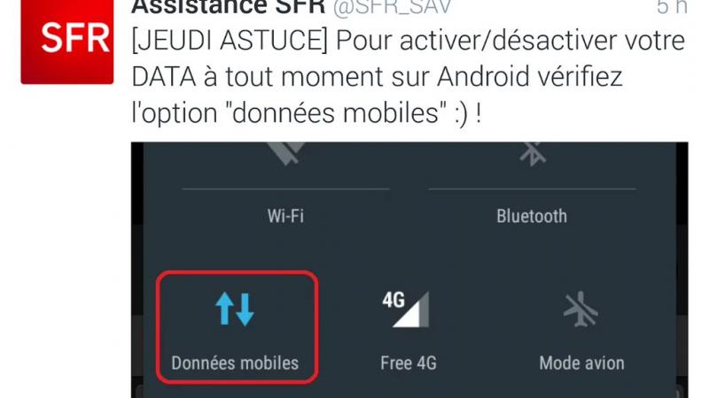 Clin d'oeil : quand SFR fait de la pub pour la 4G de Free Mobile