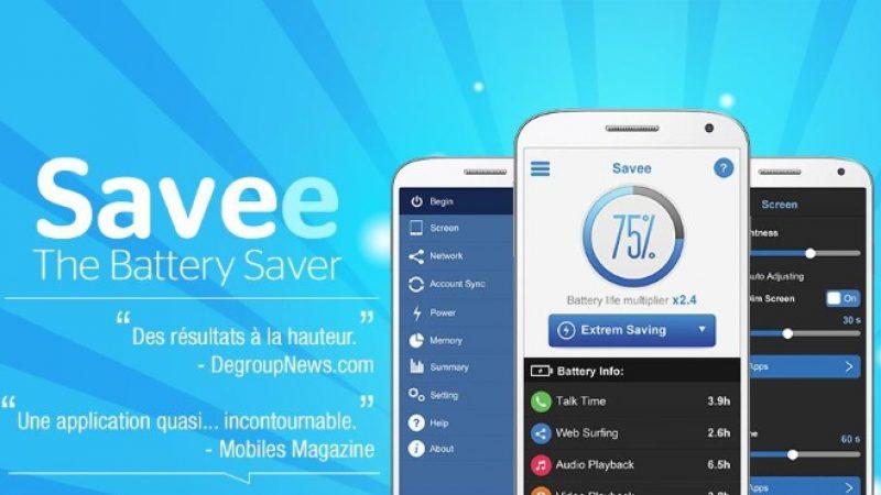 Savee, l'application gratuite qui annonce doubler l'autonomie de votre mobile : Univers Freebox l'a testé