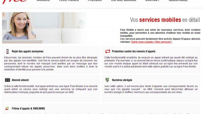 Free Mobile : Les nouveaux services détaillés sur une page dédiée