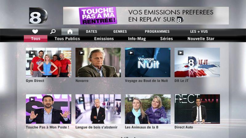 SFR annonce lancer le Replay de D8 et D17 sur son offre de TV à la demande