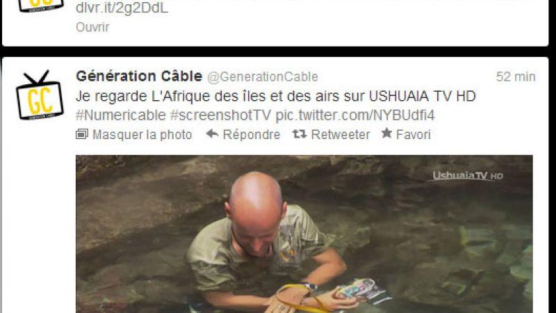 Numericable lance ScreenShot TV, pour twitter en live les captures TV