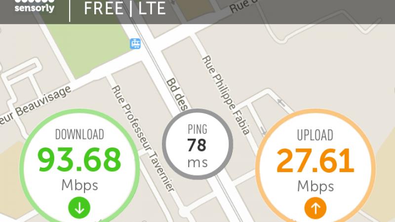 Record 4G Free Mobile Lyon battu !