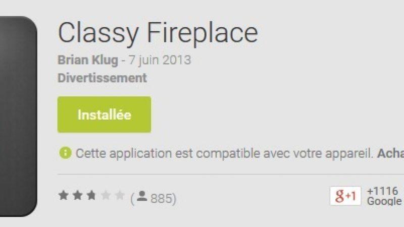 L'appli Freebox mini 4K de la semaine : découvrez Classy Fireplace