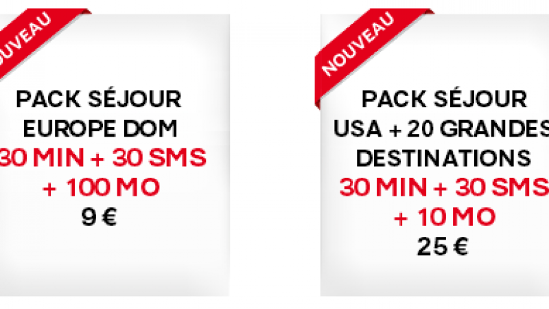 SFR Red propose des packs pour faire baisser le coût du roaming data à l'étranger
