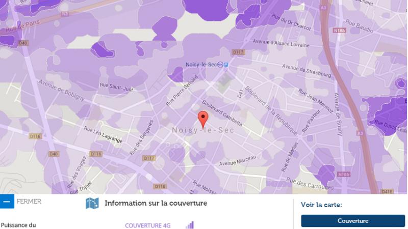Couverture et débit 4G Free Mobile : Focus sur Noisy-le-sec
