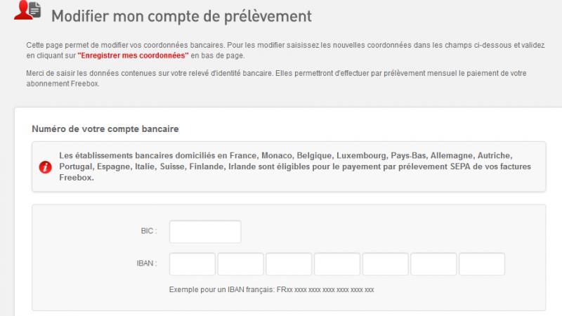 Free ajoute des pays pour faire vos prélèvements Freebox