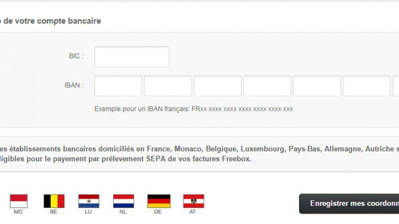 Vos prélèvements Freebox sont désormais possibles avec des comptes de pays étrangers
