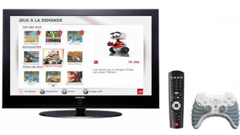 SFR lance son offre de jeu à la demande sur la télévision