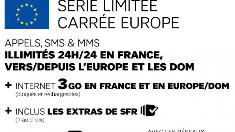 SFR lance une formule Carrée Europe et DOM, sans restriction de jours (365 jours/an)