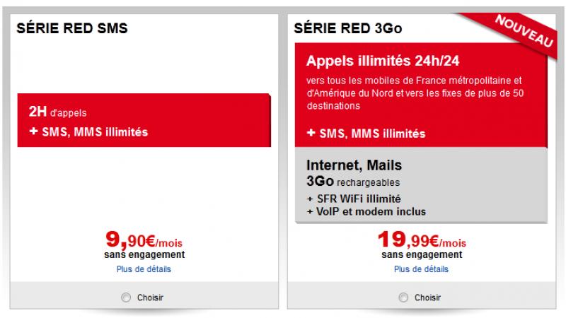 SFR : La série RED s'aligne sur les offres de Free Mobile