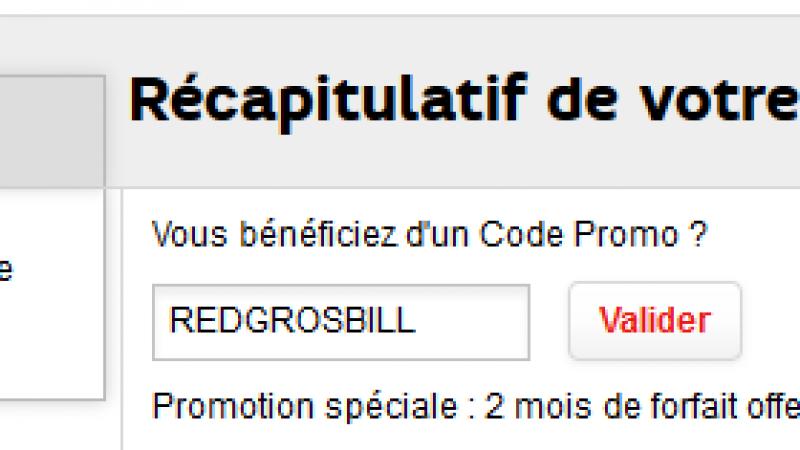 RED et SOSH offrent leurs forfaits gratuitement via des codes promotionnels