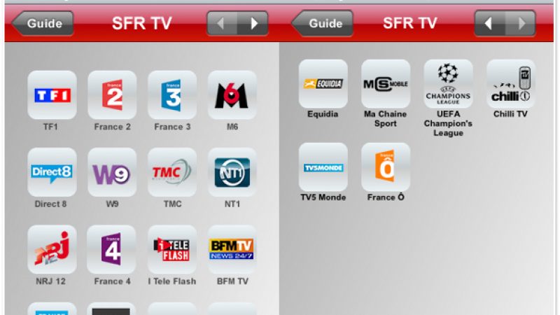 SFR propose aussi la TV sur iPhone