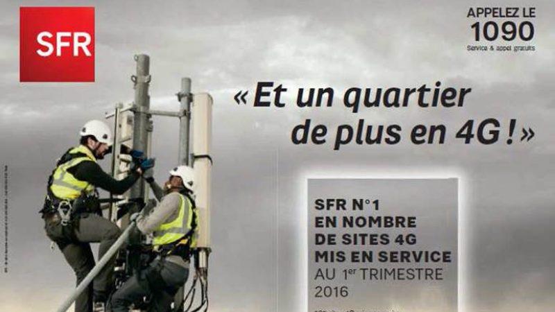 SFR, dernier sur le nombre de sites 4G déployés, lance une campagne en se disant le N°1, mais…