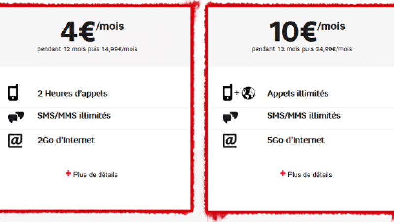 RED de SFR lance « les journées guerrières » et propose un forfait illimité avec 5Go de data pour 10€/mois