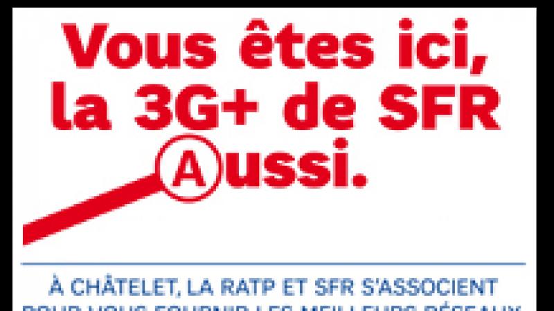 SFR s'attaque à la 3G+ dans le métro et le RER