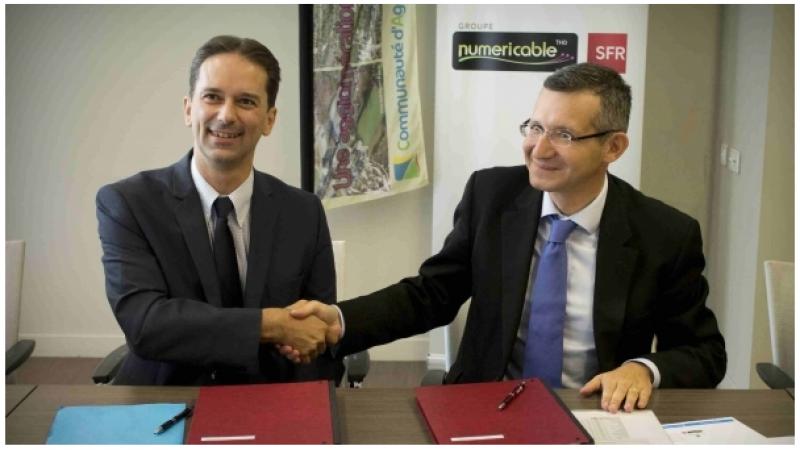 Numericable-SFR et la Communauté d'agglomération de Lens-Liévin (CALL) signent une convention pour la Fibre