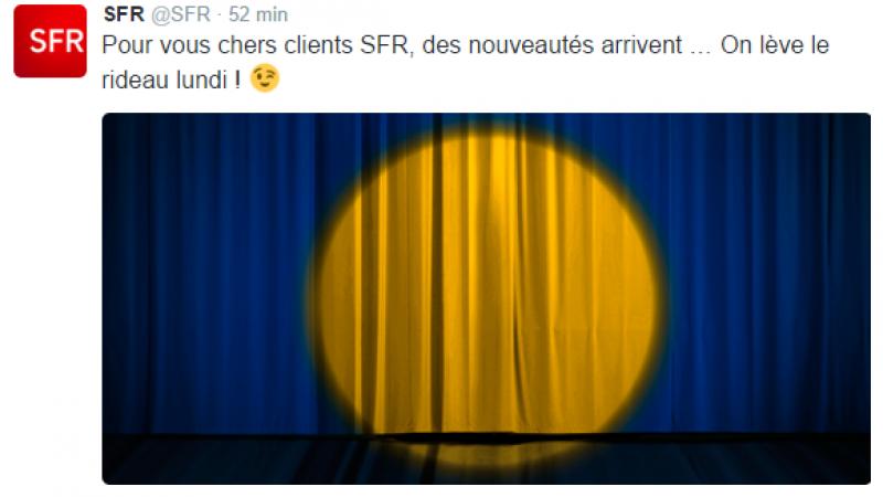 Conférence surprise du groupe Altice : SFR promet « des nouveautés » à ses clients.