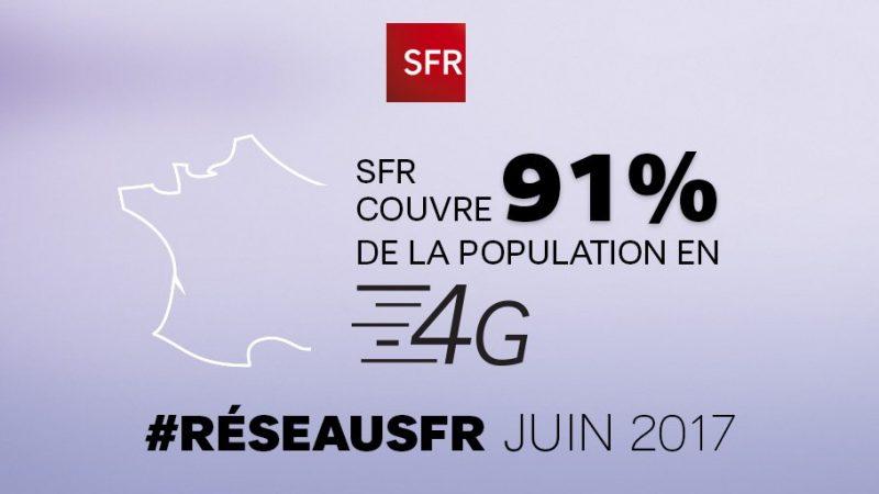 SFR annonce couvrir 91% de la population en 4G et être en route pour les 99%