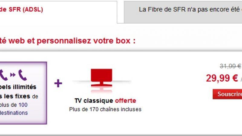 Promo SFR Box :  le triple play de retour sous la barre des 30 €