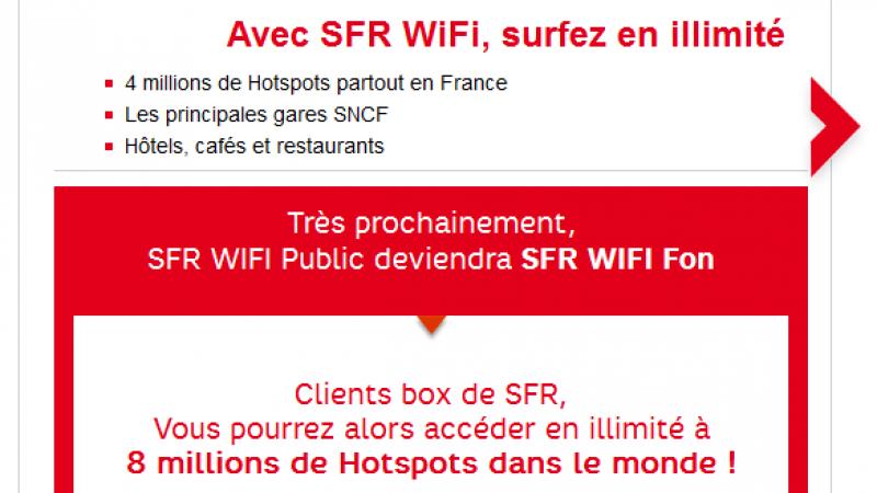SFR Wifi Public devient SFR Wifi Fon
