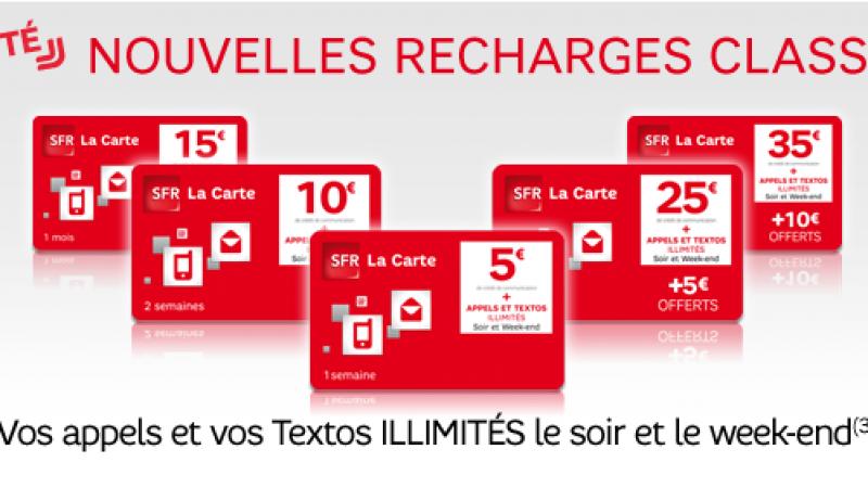 SFR la Carte : Illimité soir et week-end dès 5 € ( appels et SMS)