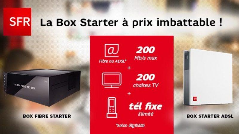 SFR dévoile son offre sur Showroom Privé : La Box Starter à 11,99€/mois durant 1 an