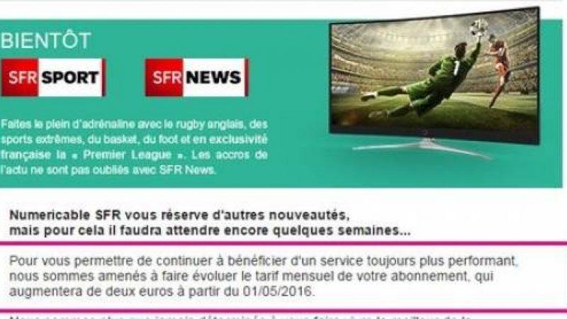 Annonce du lancement de la chaîne SFR Sport pour diffuser la Premier League, qui pourrait être disponible sur les autres box