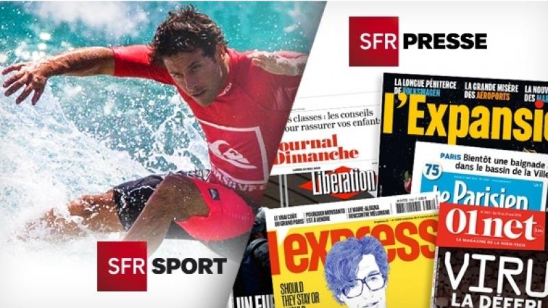 Les chaînes SFR Sport et SFR Presse, disponibles gratuitement jusqu'au 25 décembre, quel que soit l'opérateur