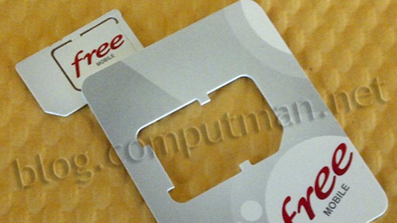 [Clin d'oeil] La carte SIM pour Free Mobile en photo