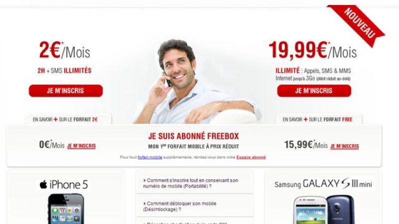 Le site de Free Mobile bénéficie d'un petit lifting