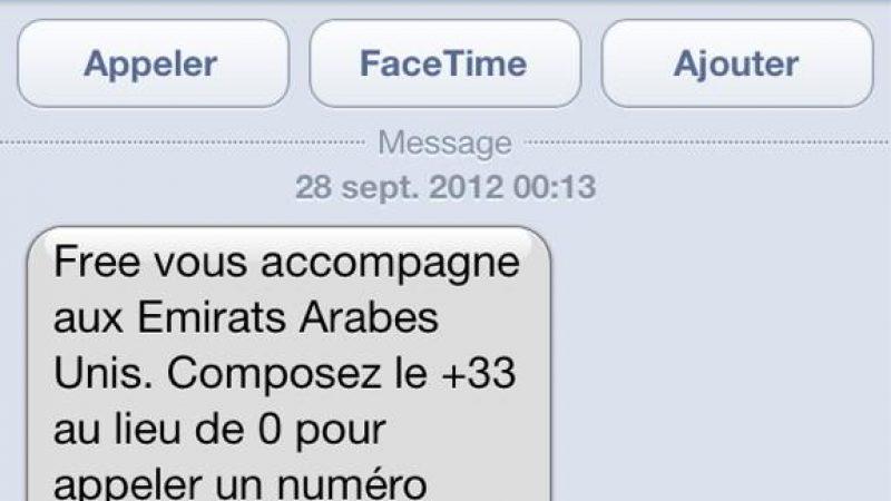envoi sms free ? l ?tranger