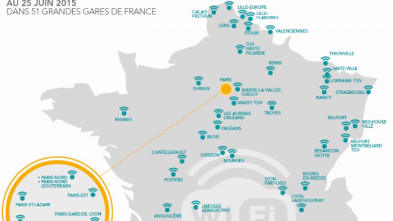 Du WiFi gratuit et illimité dans les 128 plus grandes gares de France